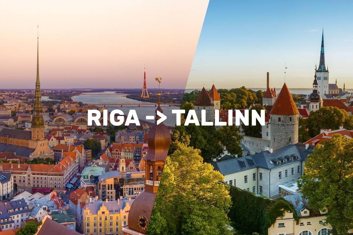 New Riga Tallinn Sightseeing Tour Bus